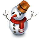 128x128px size png icon of Snowman