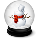 128x128px size png icon of Christmas Snowman