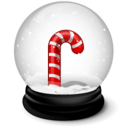 128x128px size png icon of Christmas crutches