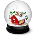 128x128px size png icon of Christmas house