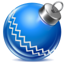 128x128px size png icon of ball blue 1