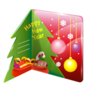128x128px size png icon of christmas card
