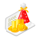 128x128px size png icon of christmas bank money