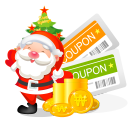 128x128px size png icon of christmas coupons