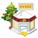 128x128px size png icon of christmas event store