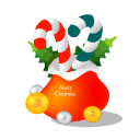 128x128px size png icon of christmas gift bag