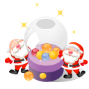 128x128px size png icon of santa christmas balls
