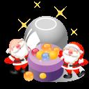 128x128px size png icon of santa christmas balls