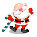 128x128px size png icon of santa dancing