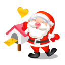 128x128px size png icon of santa mail
