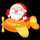 128x128px size png icon of santa plane 2