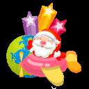 128x128px size png icon of santa plane