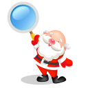 128x128px size png icon of santa search