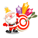 128x128px size png icon of santa stars