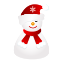 128x128px size png icon of sleepy snowman