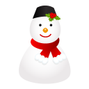 128x128px size png icon of snowman cap