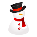 128x128px size png icon of snowman hat