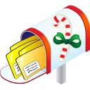 128x128px size png icon of Christmas Mailbox