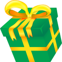 128x128px size png icon of Christmas present