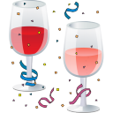128x128px size png icon of New Year Party