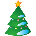 128x128px size png icon of New Year Tree