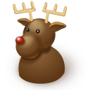 128x128px size png icon of Reindeer