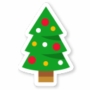 128x128px size png icon of Christmas Tree