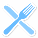 128x128px size png icon of Fork Knife