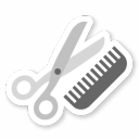 128x128px size png icon of Hair