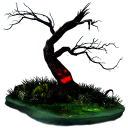 128x128px size png icon of halloween tree