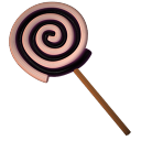 lolly spiral black Icon