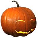 128x128px size png icon of pumpkin smile