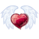 128x128px size png icon of Wing Heart