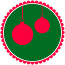 128x128px size png icon of Christmas Hanging Balls