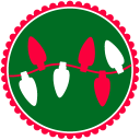 128x128px size png icon of Christmas Lights