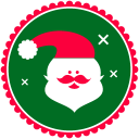 128x128px size png icon of Christmas Santa Claus