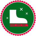 128x128px size png icon of Christmas Skating Shoes