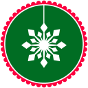 128x128px size png icon of Christmas Snow Flakes 2