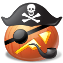 128x128px size png icon of pirate captain
