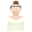 128x128px size png icon of bride