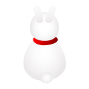 128x128px size png icon of rabbit back