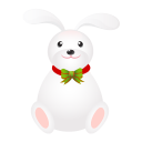 128x128px size png icon of rabbit long ears