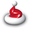 128x128px size png icon of Santas Hat