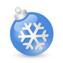 128x128px size png icon of Xmas ball blue