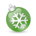 128x128px size png icon of Xmas ball green