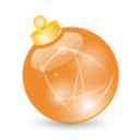 128x128px size png icon of Xmas ball orange
