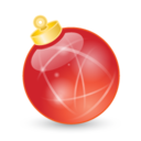 128x128px size png icon of Xmas ball red
