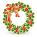 128x128px size png icon of Xmas wreath