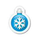 Xmas sticker ball blue Icon
