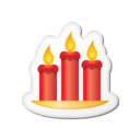 128x128px size png icon of Xmas sticker candles
